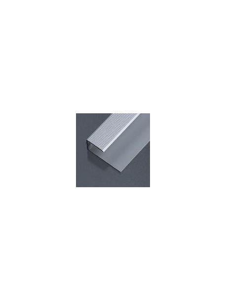 Ukončovací profil vŕtaný 28x13 mm, hrúbka 9-10,2 mm, dĺžka 2,50 m, kovodekor