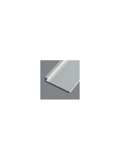 Ukončovací profil 21x4,5 mm, hrúbka 3 mm, prírodný hliník, bez povrchovej úpravy