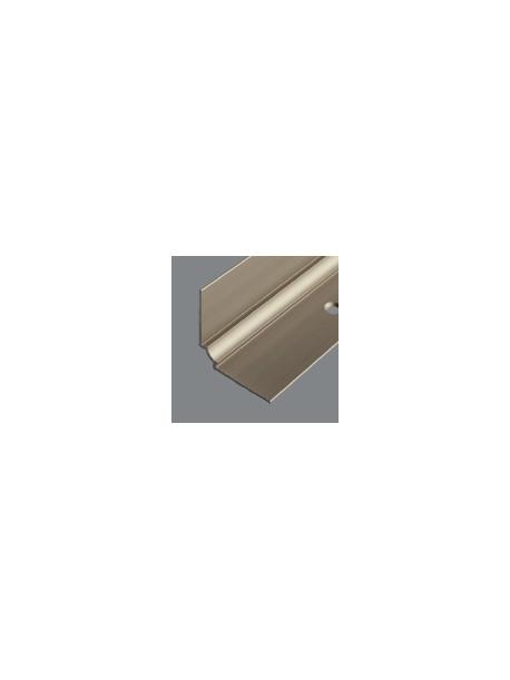 Ukončovací kútový profil vŕtaný 29x29 mm, hrúbka 2,5 mm, dĺžka 2,50 m, kovodekor
