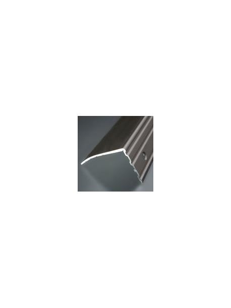 Schodová hrana vŕtaná 31x43 mm, dĺžka 2,50m , kovodekor
