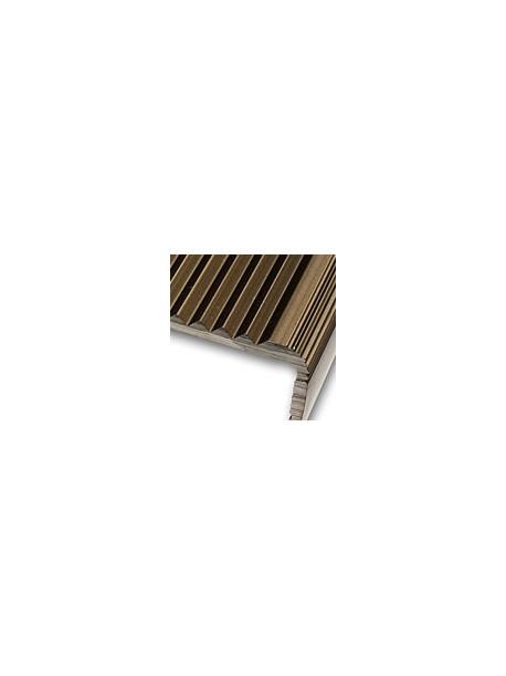 Schodová hrana vŕtaná 45x23 mm, dĺžka 2,70 m, kovodekor