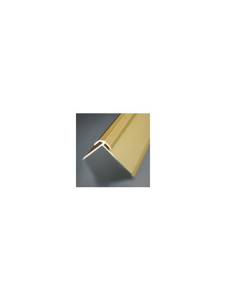Schodový profil vŕtaný, 42,5x35 mm, hrúbka 2,0-2,5 mm