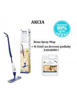 Bona Spray mop + čistič 4l na drevené podlahy ZADARMO !