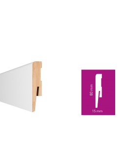 Soklová lišta Arbiton MDF Paint-it Biela MP0801