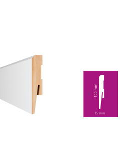 Soklová lišta Arbiton MDF Paint-it Biela MP1001